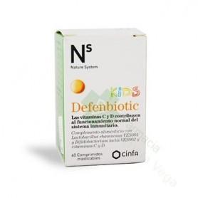 Ns Defenbiotic Kids Comp Masticables 60 Comprimi